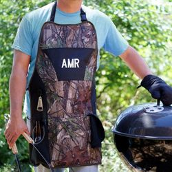 Embroidered Camo Grill Master Apron