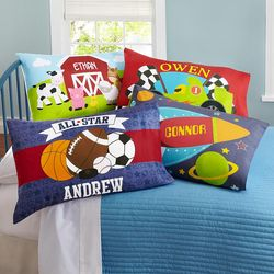 Boy's Personalized Sleepy-Time Pillowcase