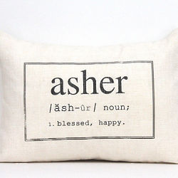 Personalized Name Meaning Pillow