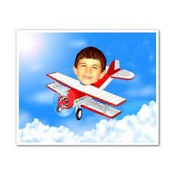 Personalized Pilot Caricature Art Print