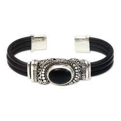 Royal Splendor Onyx Cuff Bracelet
