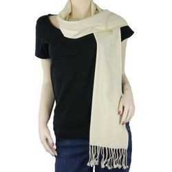 Pure Pashmina Women's Beige Scarf