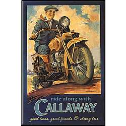 Personalized Vintage Motorcycle Pub Sign