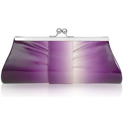 Degrade' Patent Eco-Leather Kisslock Clutch with Chain Strap