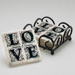 Personalized Love Coaster Set