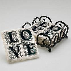 Personalized Love Coaster Set