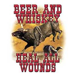 Beer and Whiskey Heal Wounds T-Shirt