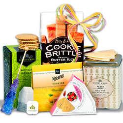 Tea & Cookies Gift Basket Stack