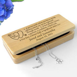Personalized Soul Mate Definition Wooden Jewelry Box