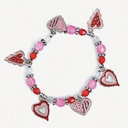 Valentine Heart Charm Bracelet Craft Kit