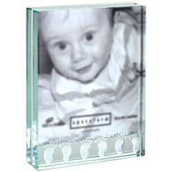 Baby Foot Glass Photo Frame