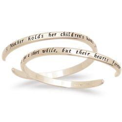 14K Gold Over Sterling Mother Sentiment Bracelet