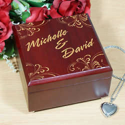 Engraved Couples Jewelry Box