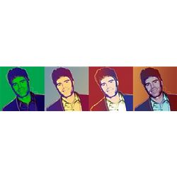 Four Panel Pop Art Customized Art Print