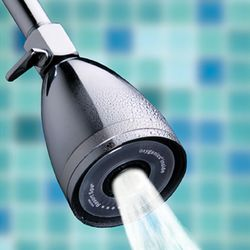 Pressure Boosting and Clog Preventing Showerhead