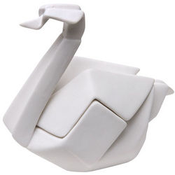 Porcelain Origami Swan Box