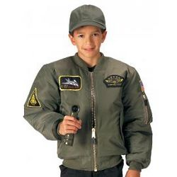Children's Top Gun MA-1 Flight Jacket with Patches