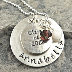 Graduation Class Personalized Hand-Stamped Necklace