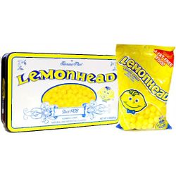 Lemonheads Candy in Vintage Style Tin