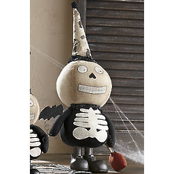 Plush Skeleton with Hand-Painted Face