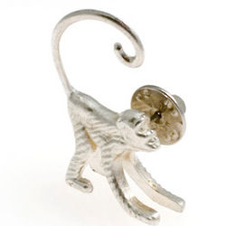 Cocktail Monkey Tie Tack