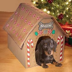 Personalizable Gingerbread Dog House