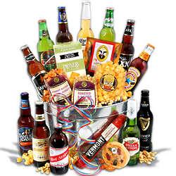 Beer and Gourmet Snacks Gift Basket