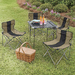 5-Piece Travel Table and Chair Set