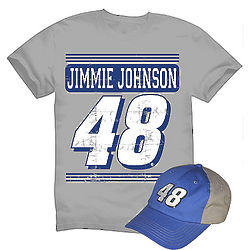 Jimmie Johnson #48 Tee and Cap Combo