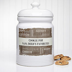 Our Loving Family Personalized Cookie Jar