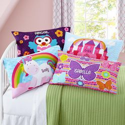 Girl's Personalized Sleepy-Time Pillowcase