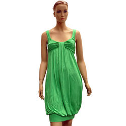 Green Viscose Knee-Length Dress