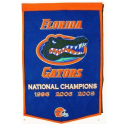 University of Florida Vintage Wool Dynasty Banner with Cafe Rod