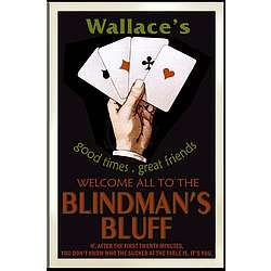 Personalized Vintage Poker Pub Sign
