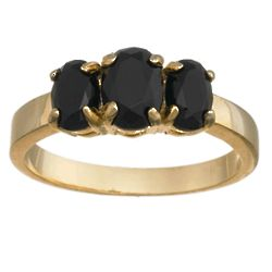 Onyx Facets Ring