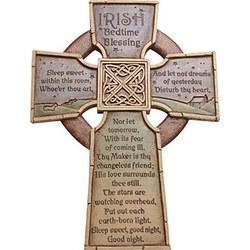 'Irish Bedtime Blessing' Celtic Cross Plaque