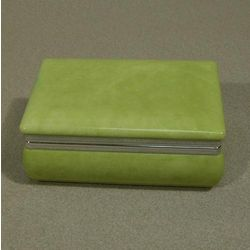 Vibrant Green Alabaster Box
