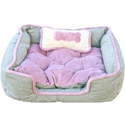 Luxury Designer Pet Bed with Pillow