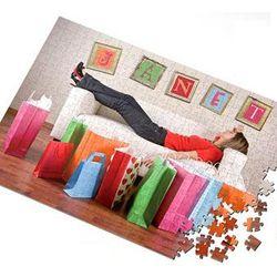 Shop til You Drop Personalized Jigsaw Puzzle