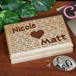 Engraved I Love You Valet Box