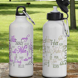 My Name Personalized Aluminum Water Bottle