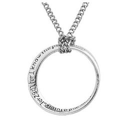 Graduation Circle Pendant with Bible Verse