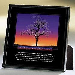Essence of a New Day Tree Framed Desktop Print