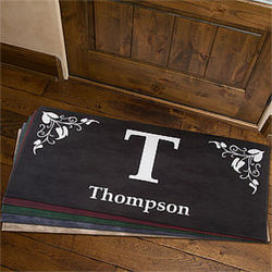 Elegant Initial Large Personalized Family Doormat