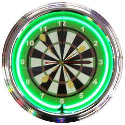 Darts Neon Clock