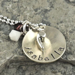 Best Coach Personalized Hand Stamped Necklace