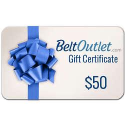 $50 Belt Outlet Gift Certificate