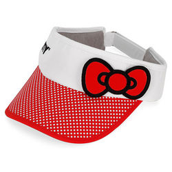 Red Hello Kitty Bow Tennis Visor