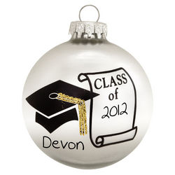 Personalized Graduation Class Of Glass Ball Ornament