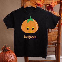 Boy's Personalized Halloween Pumpkin T-Shirt